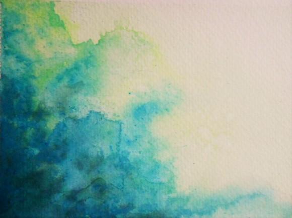 """Flood"" 5.5x8.5 watercolor."